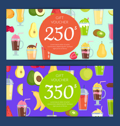 Flat smoothie discount or gift vector