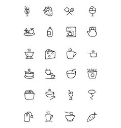 Food Hand Drawn Outline Icons 4 vector image