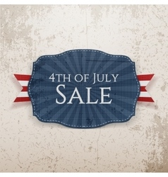 Fourth of July Sale Holiday Emblem vector image