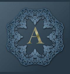 Frame monogram design vector