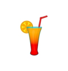 Fruit cocktail icon cartoon style vector image