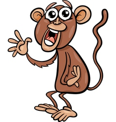 funny monkey cartoon vector image