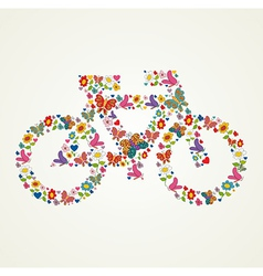 Go green spring icon bike vector image