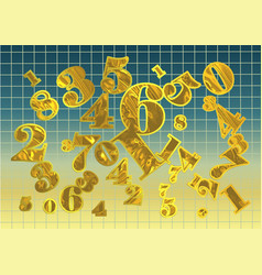Golden arithmetic background vector