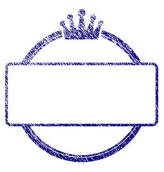 Grunge textured crown round and rectangle frame vector