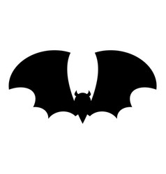 halloween bat silhouette design isolated on white vector image