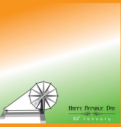 happy republic day of india poster design vector image