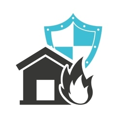Home insurance property concept icon vector