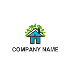 house home and leaf logo designs inspiration vector image