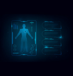hud interface virtual hologram future system vector image
