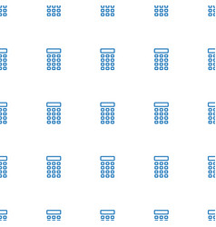 Intercom icon pattern seamless white background vector