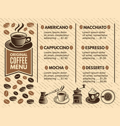 Invitation in cafe menu of coffee house pictures vector