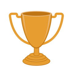 isolated golden trophy icon vector image