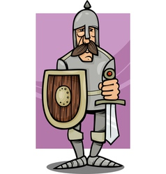 Knight in armor cartoon vector