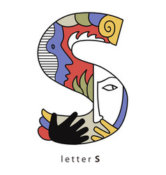 Letter s with mask vector
