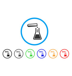 liquid transfusion rounded icon vector image
