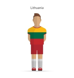 Lithuania football player Soccer uniform vector