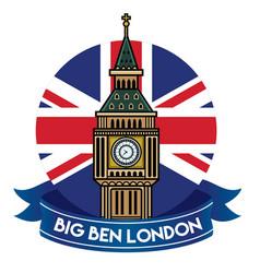 londons big ben badge vector image