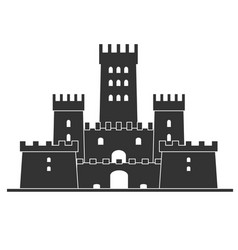 medieval castle icon castle tower vector image