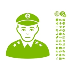 Military Captain Icon With Free Bonus vector