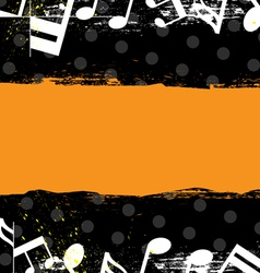 Music grunge banner design vector