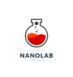 Nano lab logo template vector