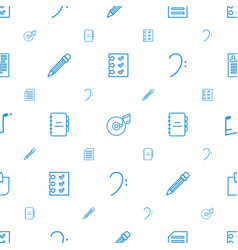 note icons pattern seamless white background vector image