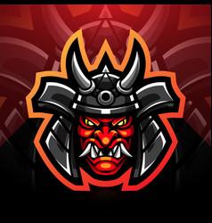 oni esport mascot logo design vector image