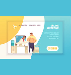online medicine concept banner vector image