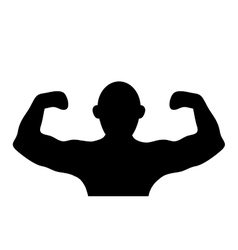 Person flexing icon design vector
