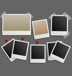 Photos frames like vintage photo set vector image