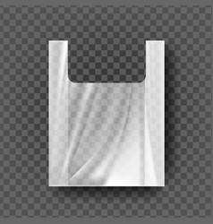 Plastic bag with handles transparent vector