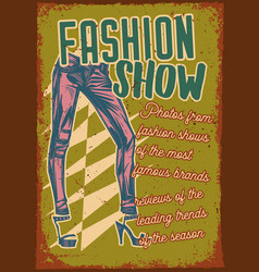 Poster design with pants vector