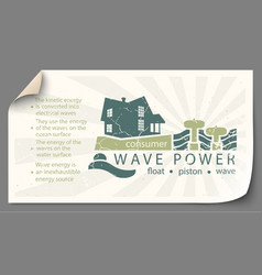 renewable energy from wave power templates vector image
