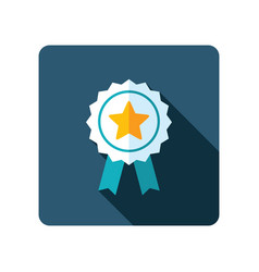 ribbon award best seller icon vector image