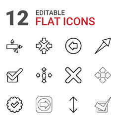 Right icons vector