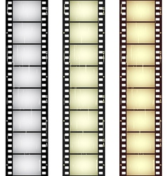 Scratched seamless film strips vector
