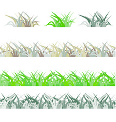 Seamless green grass field grass pattern isolated vector
