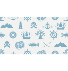 seamless pattern on theme pirate vector image