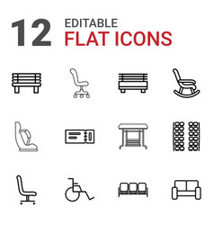 seat icons vector image