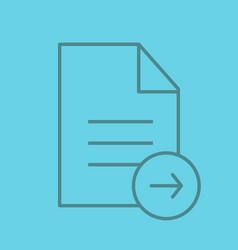 Send document color linear icon vector
