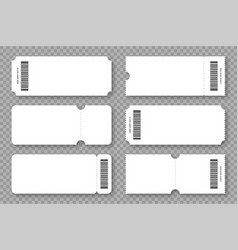 Set blank tickets coupons and vouchers with vector