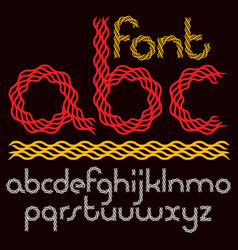 Set lower case rounded alphabet letters vector