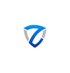 shield letter z company logo vector image