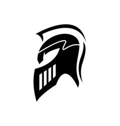 sign spartan helmet logo template icon design vector image