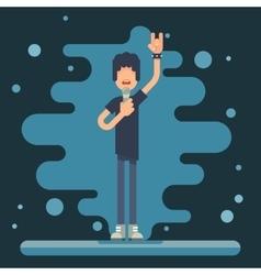 Singer performer soloist Icon Hard Rock Heavy Folk vector image
