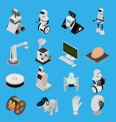 smart technologies devices icons set isometric vector image