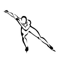 Speed skates vector