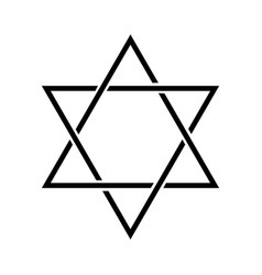 Star david jewish symbol template for your vector