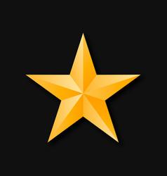 Star gold 3d vector